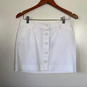 NWT Express button down white skirt